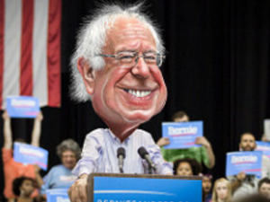 Bernie Sanders Cartoon Face