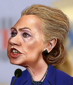 Hillary Clinton Cartoon Face